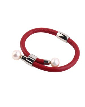 leather pearl bracelet inspiring pearls
