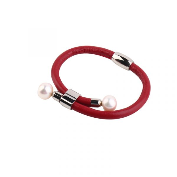 leather pearl bracelet inspiring pearls