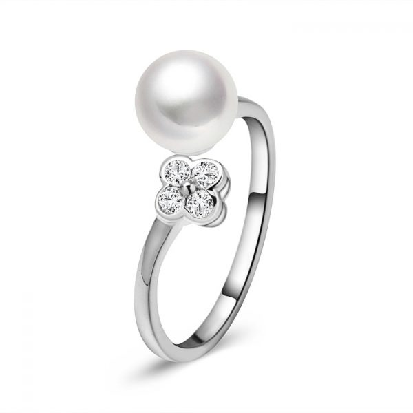 8mm Single Pearl Ring RGRW8OPEN