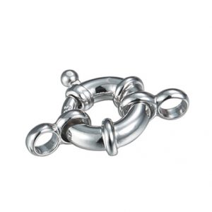 sterling silver boltring clasp inspiring pearls