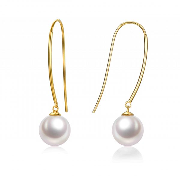 9ct yellow gold pearl hook earring inspiring pearls
