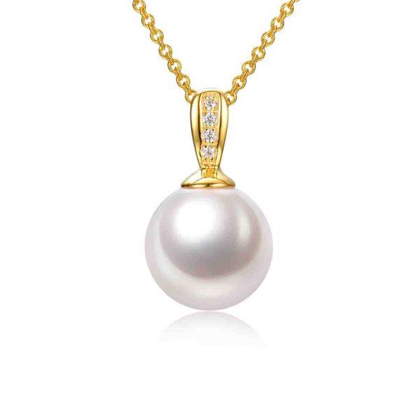 9ct gold pearl pendant inspiring pearls