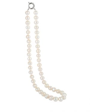 affordable classical white pearl necklace