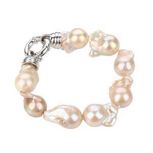 big baroque freshwater pearl bracelet BRBM15A792