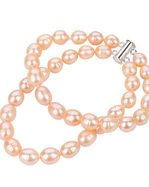 double strand pink pearl bracelet BRPDC82R