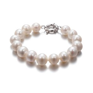 11mm white round freshwater pearl braceleet brrw113a2