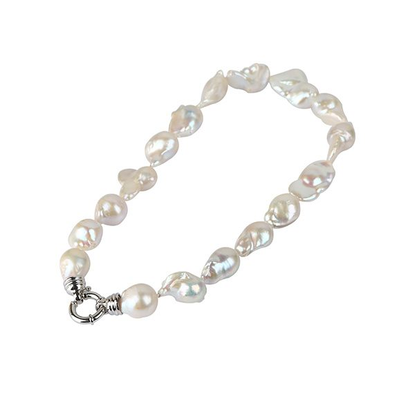 white baroque freshwater pearl necklace nlbw15a792