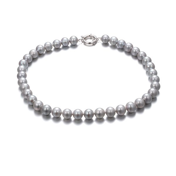 11mm dyed grey freshwater pearl necklace NLRG114a1