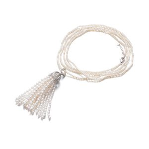 rope necklace with tassel NLSRW3