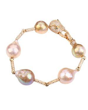 leopard head pearl bracelet inspiring pearls