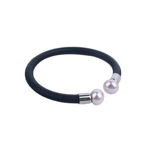 black leather pearl bracelet inspiring pearls