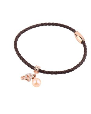 leather pearl bracelet from Inspiring Pearls