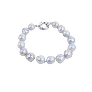dyed grey baroque pearl bracelet inspiring pearls