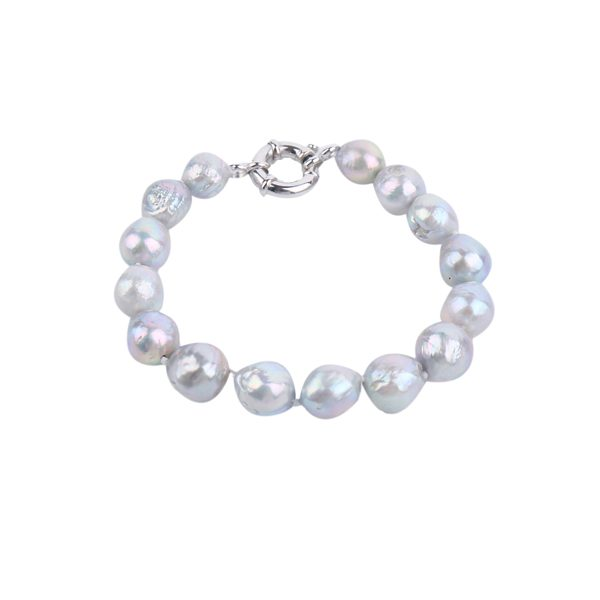 dyed grey baroque pearl bracelet inspiring pearls