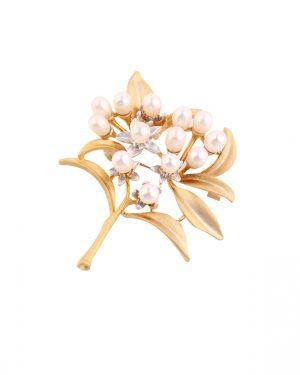 flower pearl brooch inspiring pearls