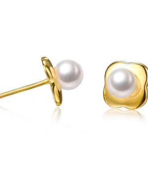 9ct yellow gold pearl studs inspiring pearls