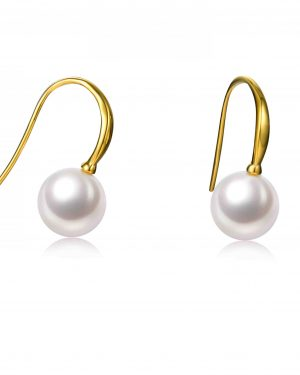 9ct yellow gold pearl earring inspiring pearls