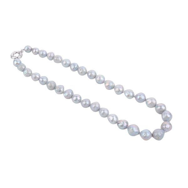 dyed grey baroque pearl necklace inspiring pearls