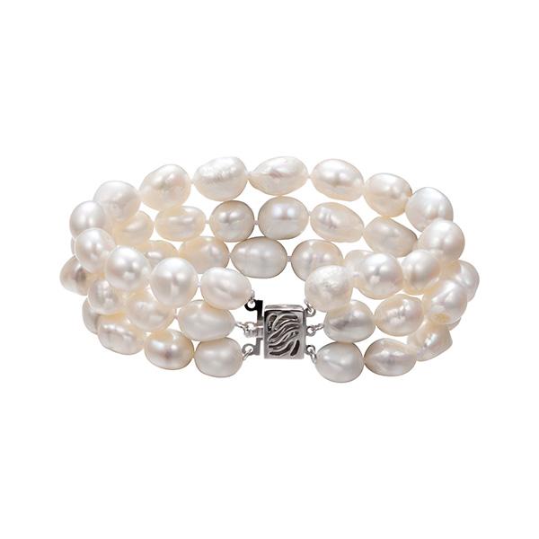 multi-row keshi water pearl bracelet BR3BW10